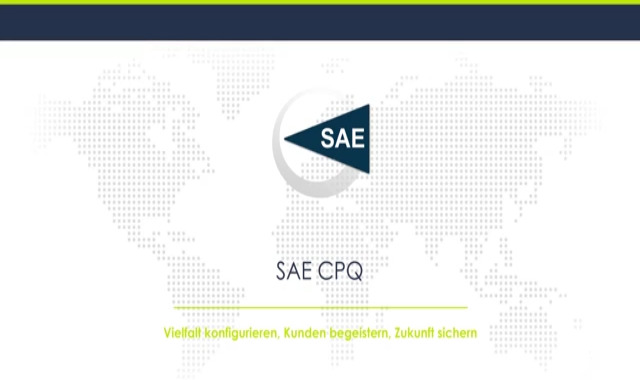SAE CPQ Produktkonfiguration | Vertrieb digitalisieren - Vielfalt konfigurieren