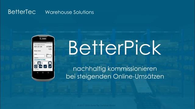Nachhaltig kommissionieren mit BetterPick