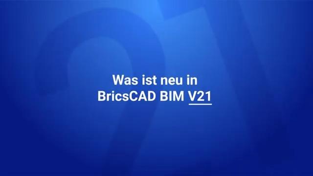 Was ist neu in BricsCAD BIM V21