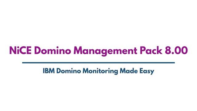 NiCE Domino Management Pack 8.0