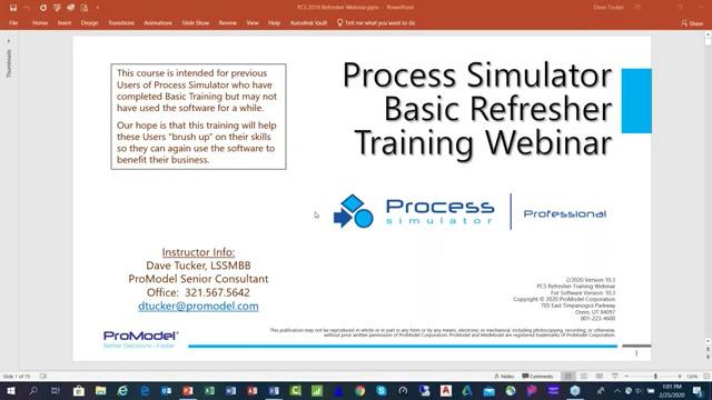 Process Simulator Basic Training
