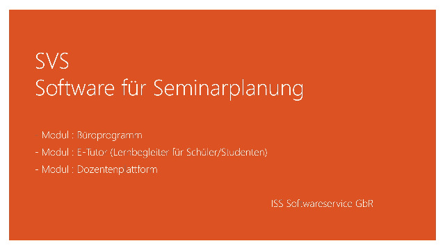 Software für Seminarplanung