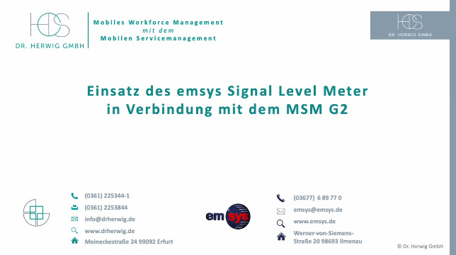Dr. Herwig Infovideo Levelmeter