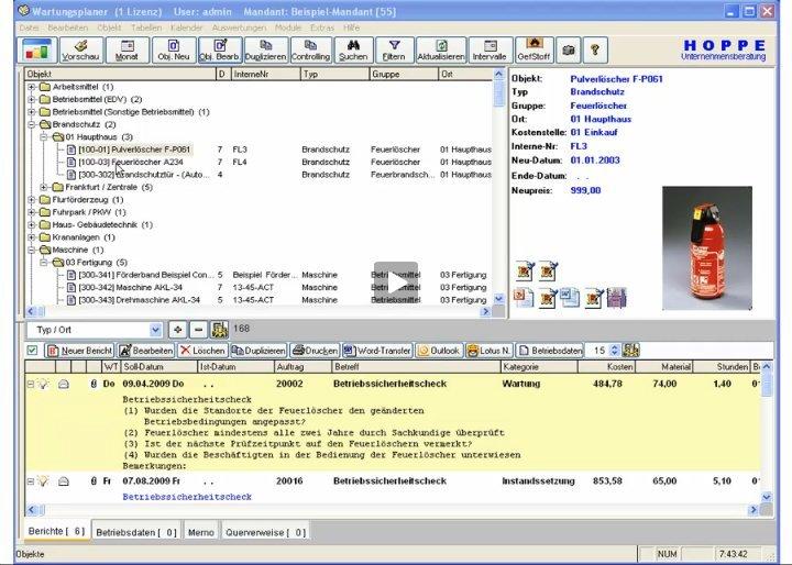 Produktvideo Wartungsplaner BGV Pr�ffristenmanagement Instandhaltungssoftware